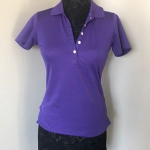 Purple Nike golf shirt
